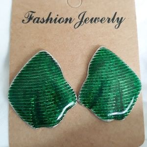Jade Green Clip-on Earrings